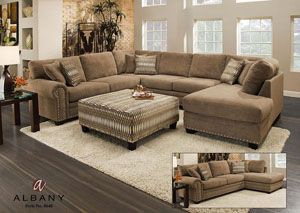 Bingo Porcini Sectional w/ Right Facing Chaise