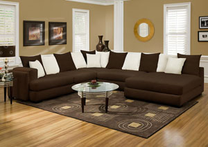 Cayman Chocolate Sectional