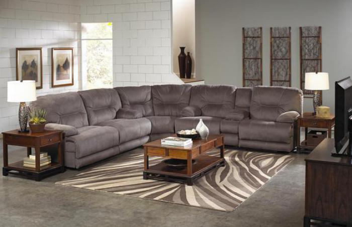 Noble Slate 3 Piece Reclining Sectional,Catnapper