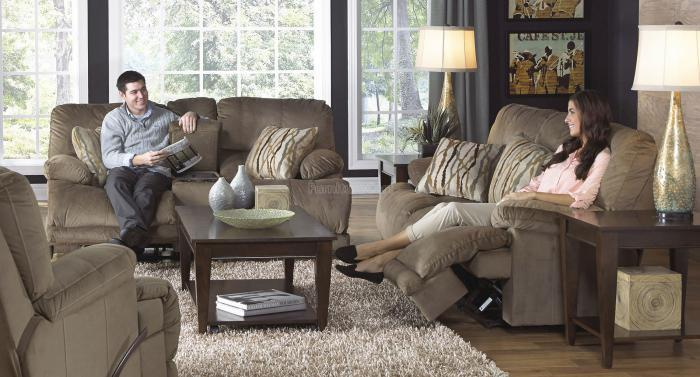 Riley Musk Reclining Sofa & Reclining Loveseat with Console,Catnapper