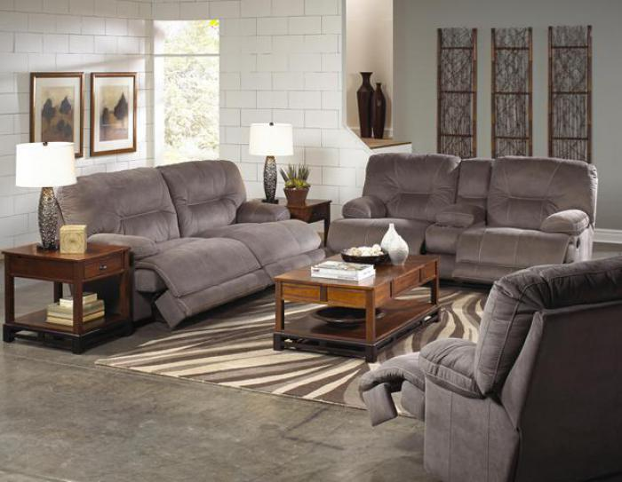 Noble Slate Reclining Loveseat with Console,Catnapper