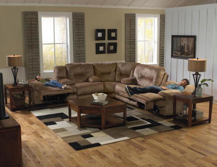 Noble Almond Reclining 3 Piece Sectional,Catnapper