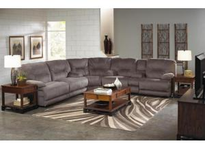 Noble Slate 3 Piece Reclining Sectional