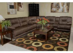 Noble Espresso 3 Piece Reclining Sectional