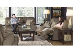 Riley Musk Reclining Sofa & Reclining Loveseat with Console
