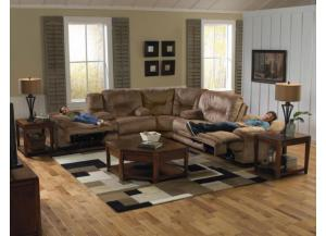 Noble Almond Reclining 3 Piece Sectional