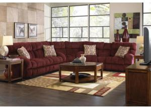 Siesta Wine Reclining 3 Piece Sectional