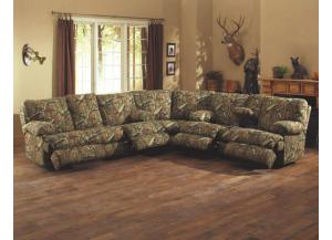 Wintergreen Mossy Oak Break Up 3 Piece Reclining Sectional