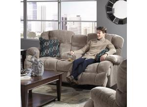 Concord Smoke Reclining Loveseat with Console