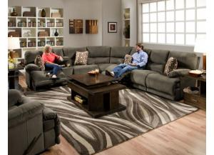 Riley Charcoal Reclining 3 Piece Sectional