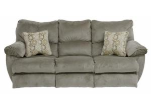 Gavin Taupe Reclining Sofa with Drop Down Table