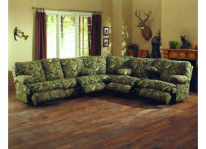 Wintergreen Mossy Oak Infinity 3 Piece Reclining Sectional