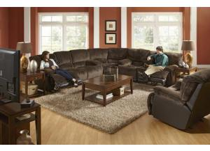 Escalade Chocolate Reclining 3 Piece Sectional
