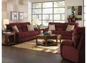 Siesta Wine Power Reclining Sofa