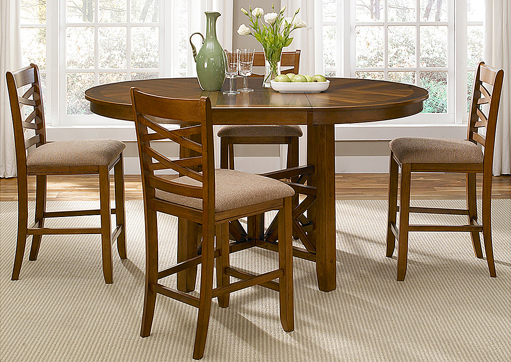 Bistro 5 Piece Oval Table Set,Liberty Furniture