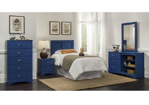Royal Blue Twin Headboard