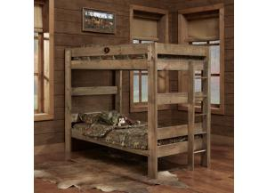 Mossy Oak Twin/Full Bunk Bed,Simply Bunk Beds