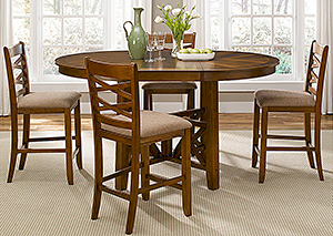 Bistro 5 Piece Oval Table Set