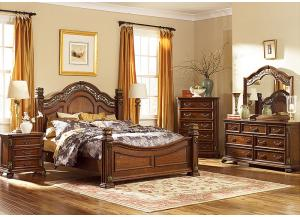 Messina Estates King Bed, Dresser & Mirror