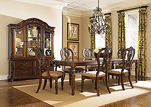 Messina Estates 7 Piece Dining Set & Buffet Hutch