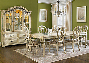 Messina Estates II 7 Piece Dining Set & Buffet Hutch,Liberty Furniture