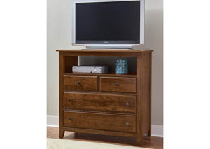 Amish Cherry Loft Media Chest- 4 Drawers