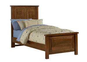 Amish Cherry Panel Twin Bed
