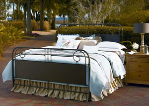 Paula Deen Down Home Oatmeal Garden Gate King Bed