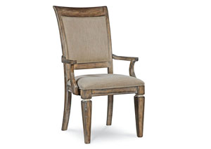 Brownstone Village Aged Patina Upholstered Back Arm Chair