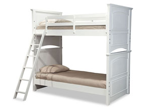 Madison Natural White Painted Twin/Twin Bunk Bed