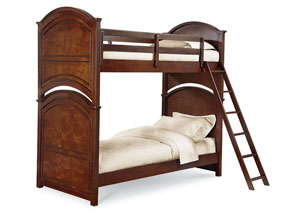 Impressions Classic Clear Cherry Twin/Twin Bunk Bed