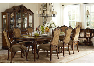 Pemberleigh Burnished Brandy 7 Piece Dining Set