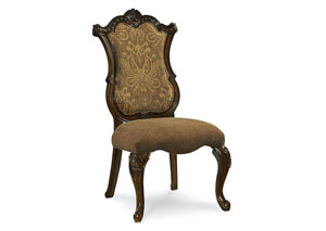 Pemberleigh Burnished Brandy Upholstered Side Chair