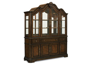 Pemberleigh Burnished Brandy Buffet/Hutch