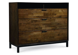 Kateri Hazelnut w/Ebony Exteriors Media Chest