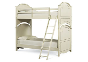 Charlotte Antique White w/Light Distressing Twin/Twin Bunk