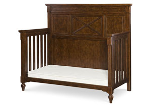 Big Sur by Wendy Bellissimo Saddle Brown (Slightly Distressed) Toddler Daybed and Guard Rail