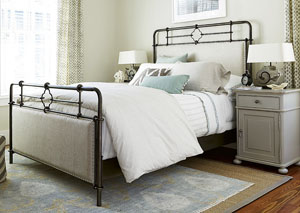Dogwood Low Tide Upholstered Metal California King Bed