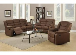 Cocoa or Grey Reclining Sofa and Loveseat