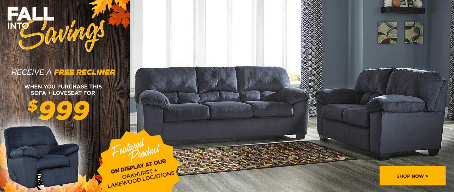$999 Sofa Love with Free Recliner