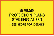 5 Year Furniture Protection Plans Available