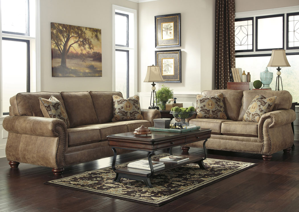 Larkinhurst Earth Sofa and Loveseat
