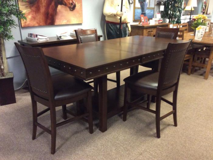 DR85 Nailhead Pub Table & 4 Stools,Taft Furniture Showcase