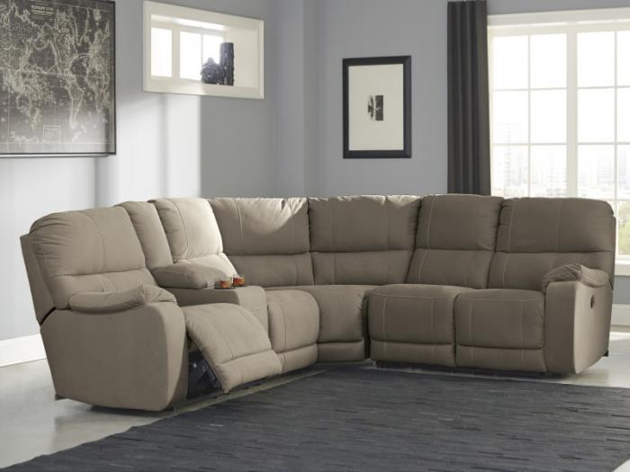Solstice Taupe 3-Piece Power SectionalTaft Furniture Showcase : taft furniture sectionals - Sectionals, Sofas & Couches