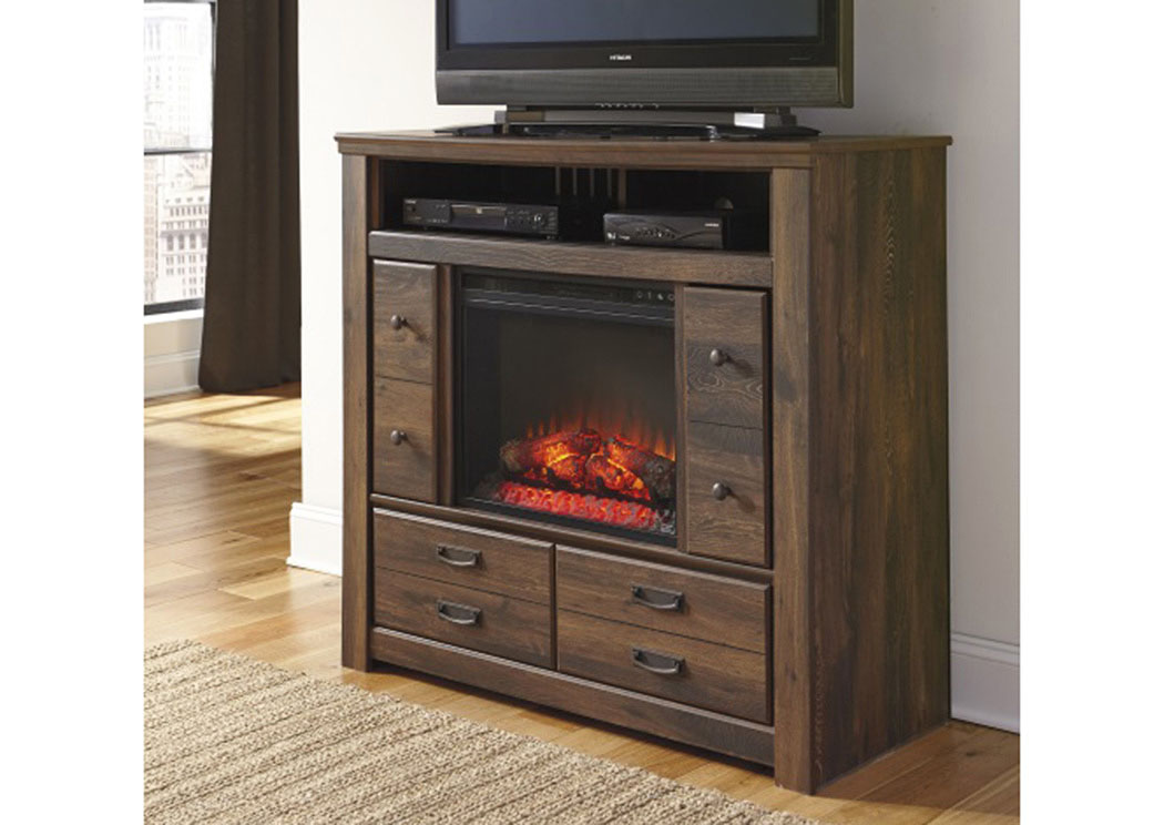 MB16 Rustic Cottage Media Chest with LED Fireplace,Taft Furniture Showcase