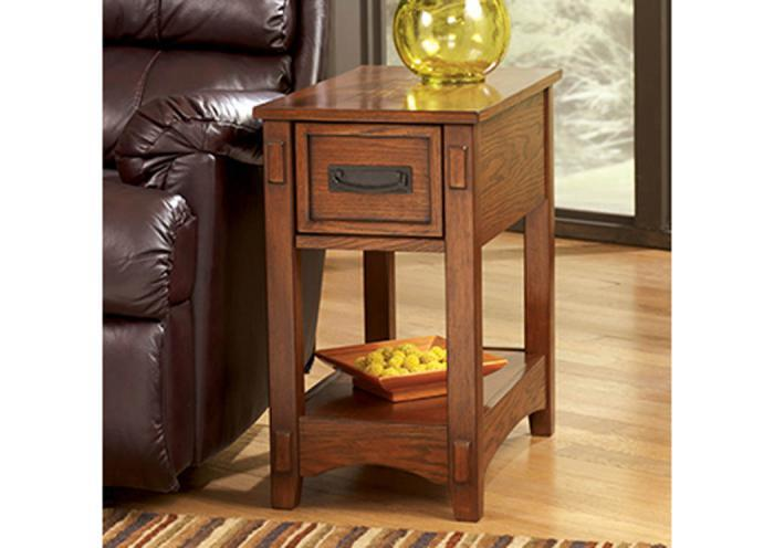 Taft Furniture & Sleep Center Mission Style Chairside End