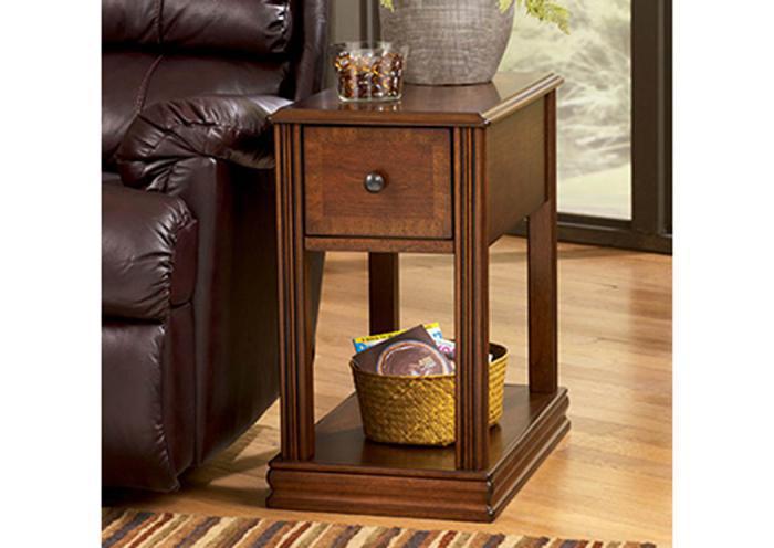 Taft Furniture & Sleep Center Transitional Brown Chairside