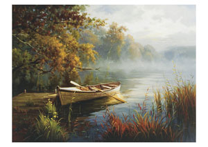 Lake George Fall Row Boat Canvas - 48