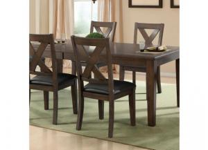 DR83 Dark Walnut Side Chair: Set of 2