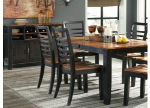 DR110 2-Tone Brown Table & 4 Chairs